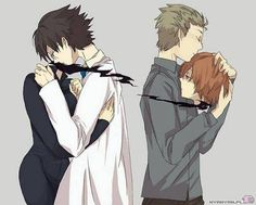 Shinra, Celty, and Shinji  (You won't find a picture like that just anywhere.)