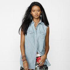 Denim & Supply Ralph Lauren スリーブレス シャンブレーシャツ on ShopStyle