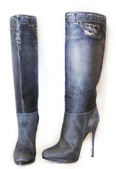 SHOE TRENDS: Denim Heels
