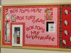 Box Tops Bulletin Board