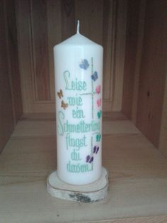 Trauerkerze Pillar Candles, Candles, Basteln