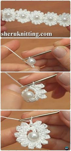 Ganchillo grano de la flor del cordón del cordón del patrón libre [Video] Cable -Crochet Patrones gratis