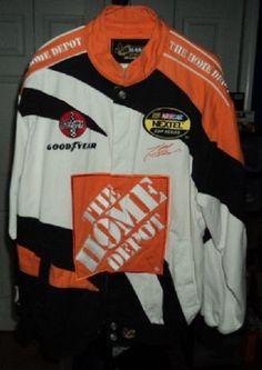 Chase Home Depot Tony Stewart Racing Jacket #20 Nascar Size Medium Cotton Nylon #Chase