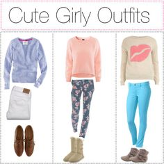 Cute girly outfits, created by tipsters-and-we-know-it on Polyvore