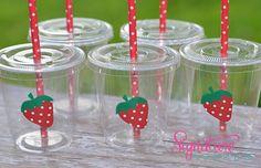 Strawberry Shortcake  Birthday Party Cups-Set of 12 on Etsy, $16.40