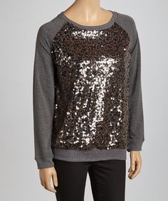 Take a look at this Gray Sequin Sweatshirt by Simply Irresistible on #zulily today!