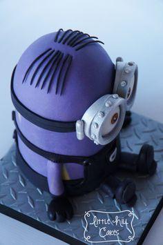 Yellow Minion Disguised as a Purple Minion Cake
