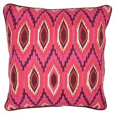 Check out this item at One Kings Lane! Moroccan 18x18 Linen Pillow, Pink