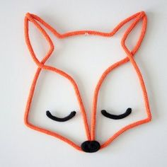 Un renard en tricotin Crochet Diy, Diy For Kids, Crafts For Kids, Diy And Crafts, Arts And Crafts, Spool Knitting, Wall Ornaments, Diy Décoration, Diy Projects To Try