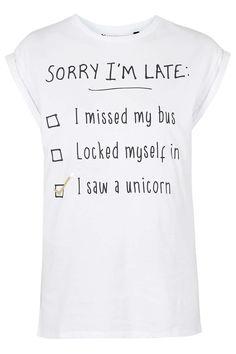 PETITE Sorry I'm Late T-Shirt
