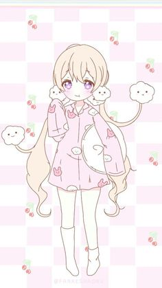 """Kawaii is a Japanese language adjective meaning """"cute"""", """"beautiful"""", """"lovely"""" and a style that many girls like . Kawaii Anime Girl, Anime Girls, Loli Kawaii, Cute Anime Chibi, Anime Girl Cute, Cute Anime Pics, Anime Art Girl, Manga Girl, Wallpaper Sky"""