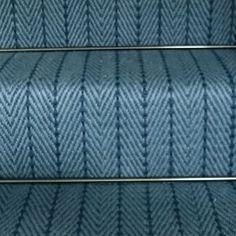 Herringbone blue close up. ns Herringbone, Jute, Carpet, Stair Runners, Colours, Hair, Rug, Rugs, California Hair