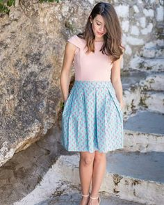 Handmade mini skirt with prin Flamingos by Annabelle moda