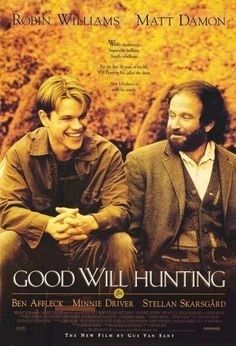 Good Will Hunting With Robin Williams, Matt Damon, Ben Affleck. Written by Matt Damon and Ben Affleck. Directed by Gus van Sant. Good Will Hunting, Old Movies, Great Movies, Indie Movies, Comedy Movies, Vintage Movies, Amazing Movies, See Movie, Movie Tv