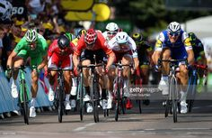 #TDF2017 Marcel Kittel of Germany and Team Quick-Step Floors (R) races towards the finish line to win stage six of the 2017 Le Tour de France, a 216km road stage from Troyes to to Vesoul on July 6, 2017 in Troyes, France.