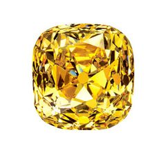 The Tiffany diamond was the largest golden diamond known, at 287.42 carats for over 100 years, (until the Golden Jubilee 1986: 755.50/545.65-carat). The Tiffany diamond was found in the Kimberly Mines of South Africa in 1878. DeBeers sold it to Tiffany the following year. It was sent to Paris and cut into a cushion-shaped brilliant with 90 facets and a finished weight of: 128.51 carat. The unusual symmetry used with this cut gives the Tiffany a noteworthy brilliance.