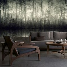 Morning Mist Mural | The Pepin Shop for carefully chosen design, fashion, furniture and wall decor products