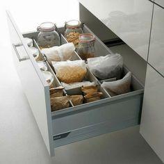 53 praktische Ideen für die Organization der Küchenschubladen