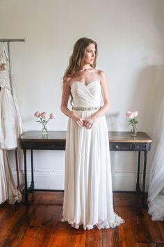 Jennifer Go - Gemma gown, silk chiffon with hand ruched bodice