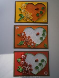 © Moje quilling ćoše- quilled valentine and heart cards (Searched by Châu Khang)