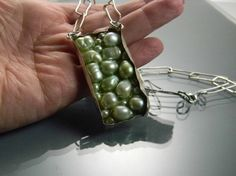 Sterling Silver Freshwater Pearl Mosaic Pendant with by isajul, 120.00