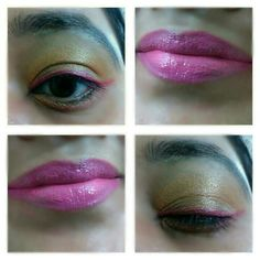 Orange and pink funky makeup