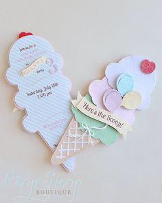 Ice Cream Social Ice Cream Cone Birthday by propshopboutique