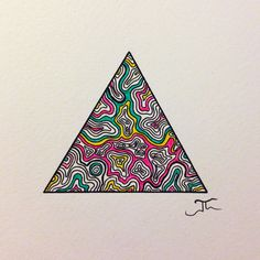 Simple triangle lines and few colors