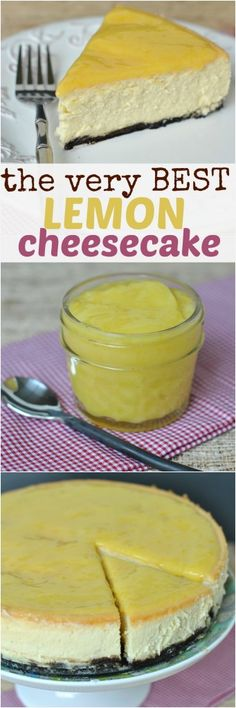 The VERY Best Lemon Cheesecake recipe, with tips and tricks to make it work every time! #delicious #recipe #cake #desserts #dessertrecipes #yummy #delicious #food #sweet