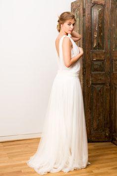 robe mariée drapée à traine