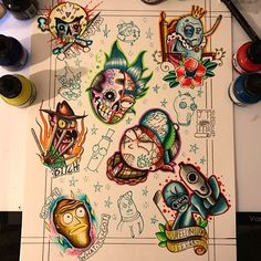 """96 curtidas, 3 comentários - Jack Troughton (@jackt_tattoos) no Instagram: """"So who is a Rick and Morty fan? Come and get one of these designs done by me! @thesharppractice…"""""""