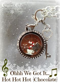 Hot Chocolate by Origami Owl...Host a jewelry bar or Shop @ www.pinkiceprincess.origamiowl.com or email me @ cherrybling1974@yahoo.com