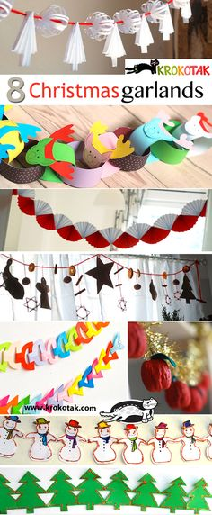 8 CHRISTMAS garlands