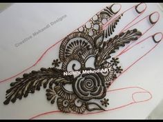 YouTube #fusion #feather #arabic #henna #mehndi #design #tutorial