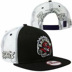 New Era Toronto Raptors Big Mesh 4 9FIFTY Adjustable Snapback Hat - Black 1f89d32c5d13