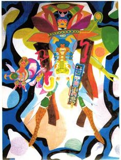 Cap& Comics: Far-Out Fem by Jack Kirby comicbookartists Comic Book Artists, Comic Books Art, Comic Art, Kirby Character, Character Design, Comic Character, Thor, Jack Kirby Art, Psychedelic Space