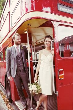 London Bus: travel with all your guests!  Rebecca Wedding Photography.