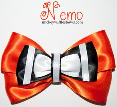 Nemo Hair Bow by MickeyWaffles on Etsy