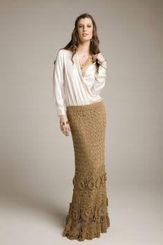 "Photo from album ""Giovana Dias"" on Yandex. Crochet Skirts, Knit Skirt, Crochet Clothes, Knit Dress, Dress Skirt, Vanessa Montoro, Short Tejidos, Cute Dresses, Beautiful Dresses"