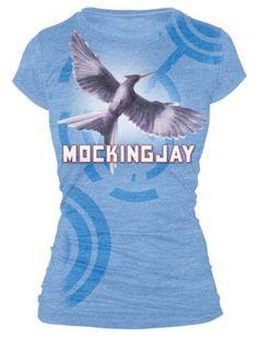 The Hunger Games Mockingjay Bookart T-Shirt on www.amightygirl.com