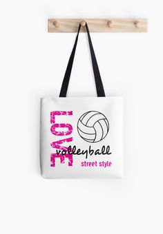 Love Volleyball Street Style #redbubble #totebags #volleyball