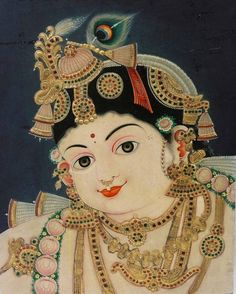 A lovely traditional Krishna face