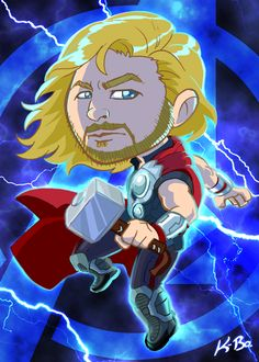 Avengers Thor Art Card by *kevinbolk on deviantART