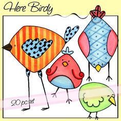 Here Birdy Bird Doodle, Doodle Art, Watercolor Animals, Watercolor Cards, Quilting Projects, Art Projects, Galaxy Drawings, Doodles Zentangles, Bird Cards