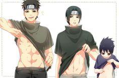 Shisui, Itachi, Sasuke