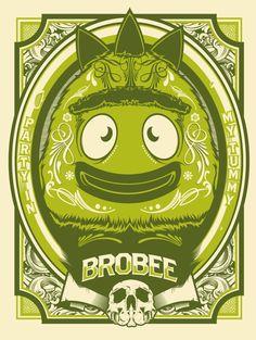 Brobee Print by Hydro 74! YO GABBA GABBA!
