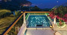 Villa Coral Blue in Marina del Cantone, Amalfi Coast embraces its privileged position here to the full. Vast picture windows and a stunning pool and patio area overlook the breathtaking Bay of Nerano below. https://www.jamesvillas.co.uk/destinations/italy/amalfi-coast/marina-del-cantone/coral-blue-10187