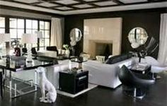 Black and white living room decor Black And White Living Room, Black And White Interior, White Rooms, Black White, Casa Versace, Versace Home, Glam Living Room, Home And Living, Living Room Decor