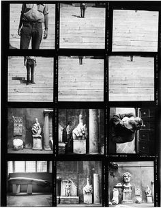 kitchenmike: robert rauschenberg contact sheet cy twombly in rome
