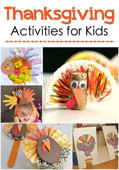 Adorable Thanksgiving Crafts & Activities for Kids